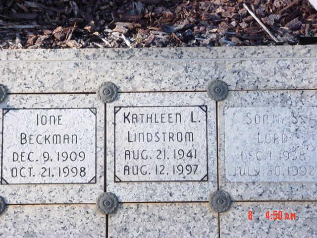 Kathleen Louise <i>Spangler</i> Lindstrom