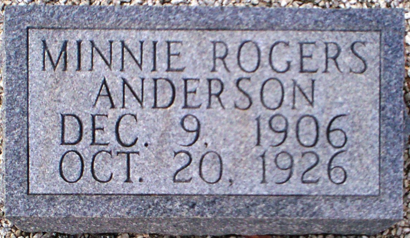 Minnie <i>Rogers</i> Anderson