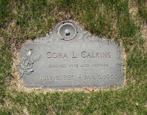 Cora Luella <i>Overturf</i> Calkins