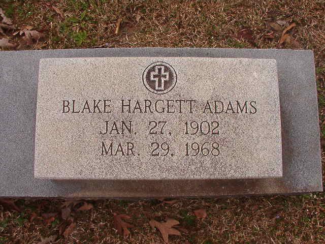 Blake <i>Hargett</i> Adams