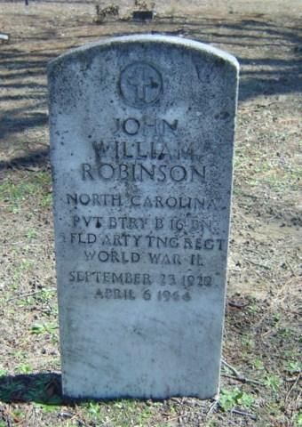Pvt JohnWilliam Robinson