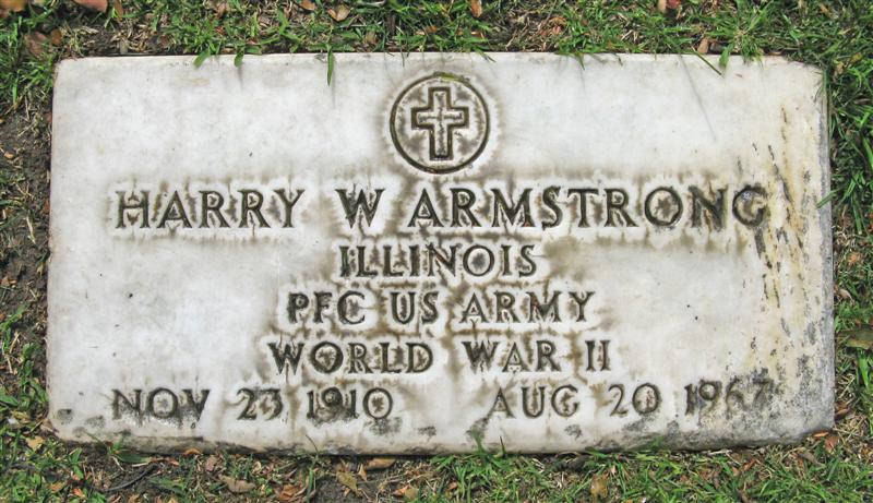 PFC Harry Winfred Armstrong