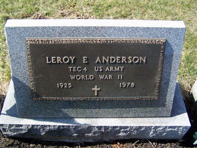 Leroy E Anderson
