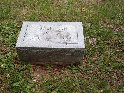 Sarah Ann <i>Stevens</i> Byrum