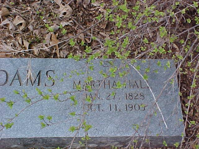 Martha Ann <i>Hall</i> Adams