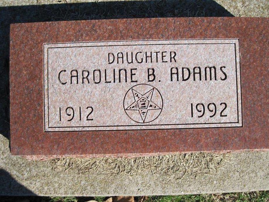 Caroline B Adams