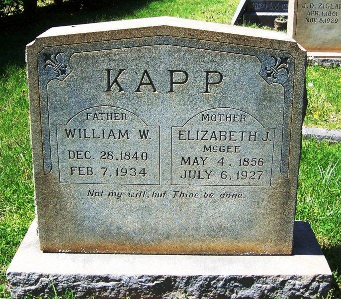 Elizabeth Jane <i>McGee</i> Kapp