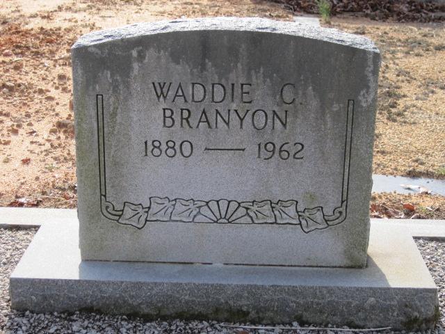 Waddie Calhoun Branyon
