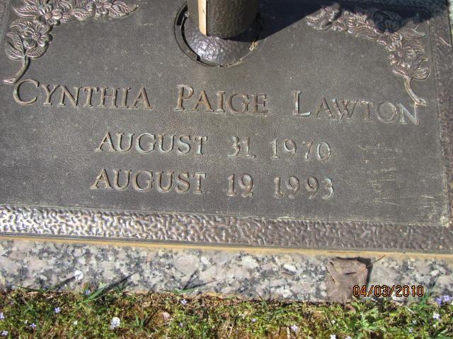 Cynthia Paige Cindy Lawton