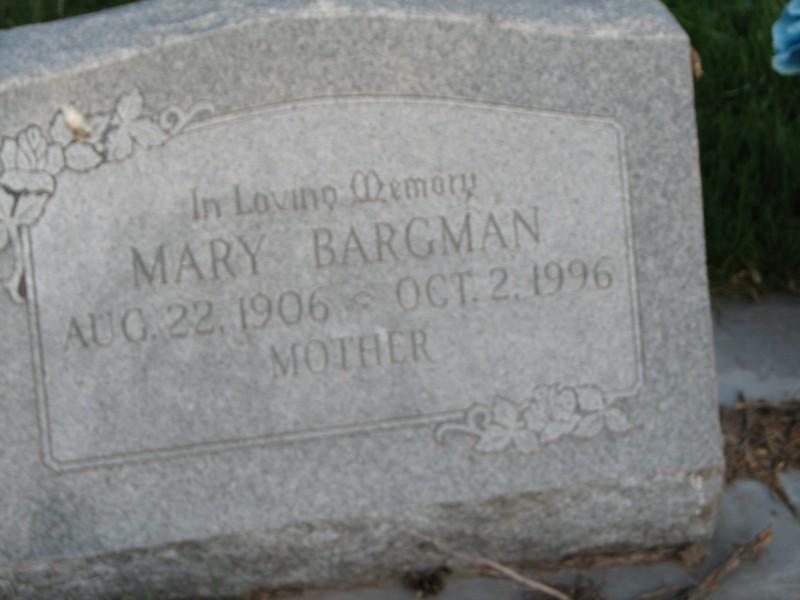 Mary <i>Fisser</i> Bargman