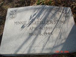 Minnie E <i>Graham</i> LeTellier