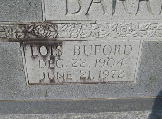 Lois <i>Buford</i> Barrentine