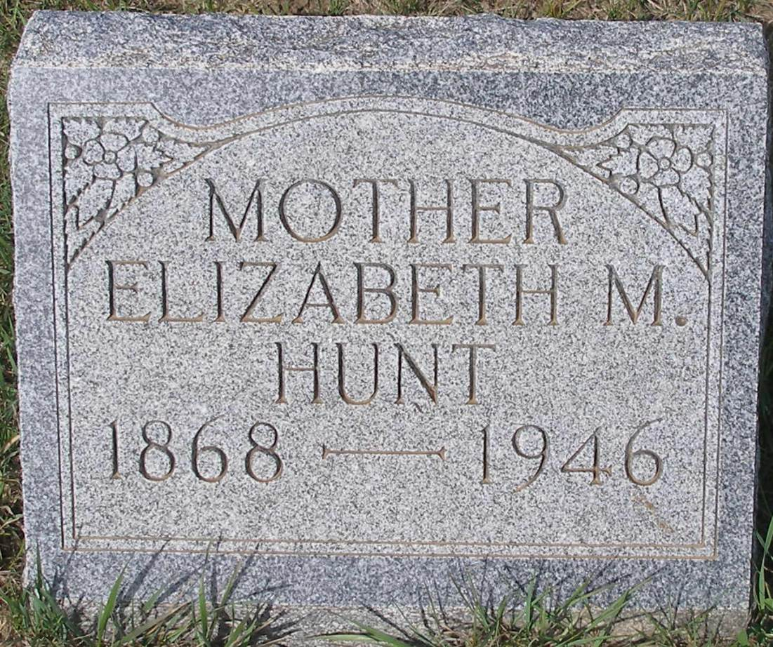 Elizabeth M <i>Steele</i> Hunt