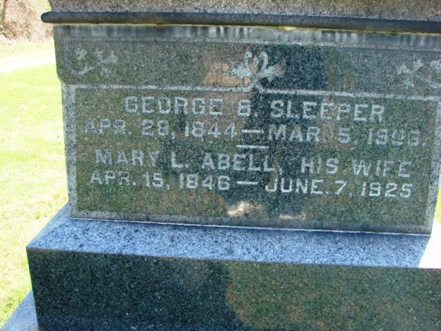 Mary L <i>Abell</i> Sleeper