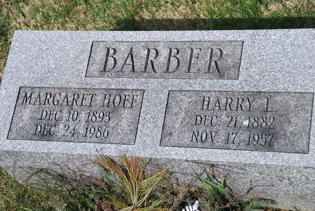 Margaret <i>Hoff</i> Barber