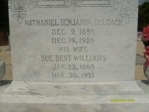 Sue Best <i>Williams</i> DeLoach