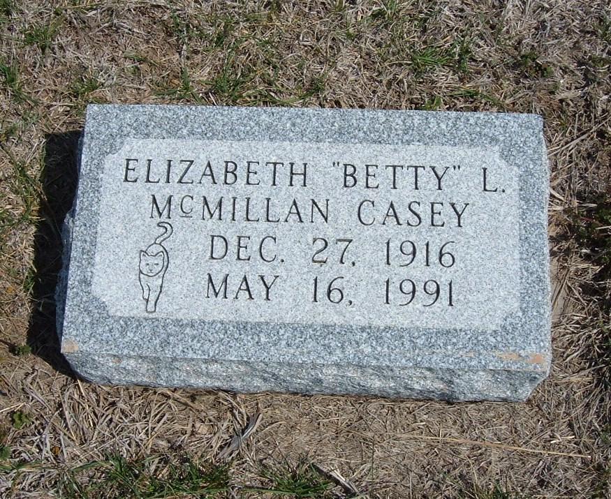 Elizabeth L. Betty <i>McMillan</i> Casey