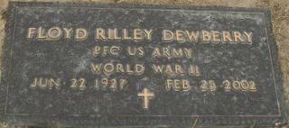 PFC Floyd Rilley Dewberry