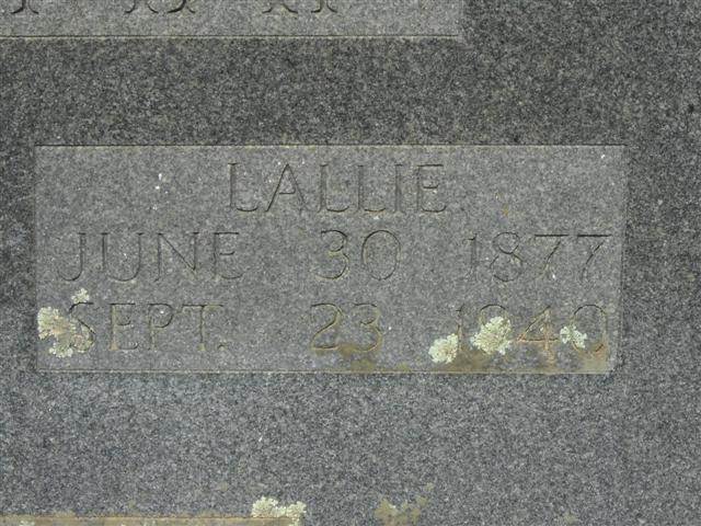 Lallah N. Lallie <i>Beasley</i> Alderman