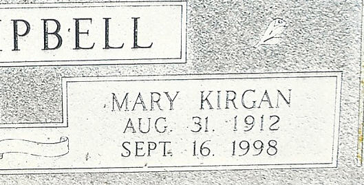 Mary <i>Kirgan</i> Campbell