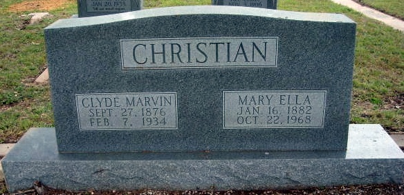 Mary Ella <i>Lenhard</i> Christian