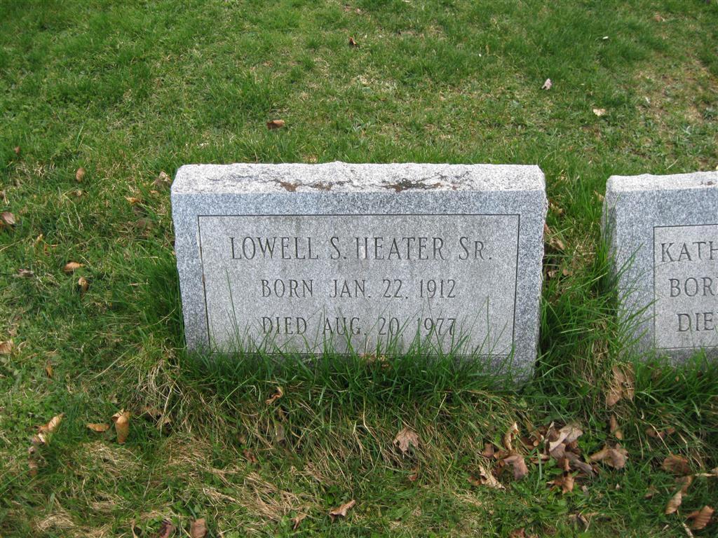 Lowell S Heater, Sr