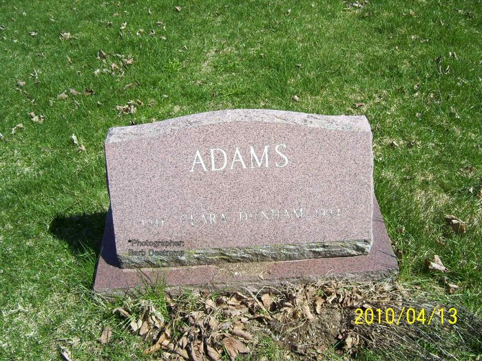 Clara <i>Dunham</i> Adams