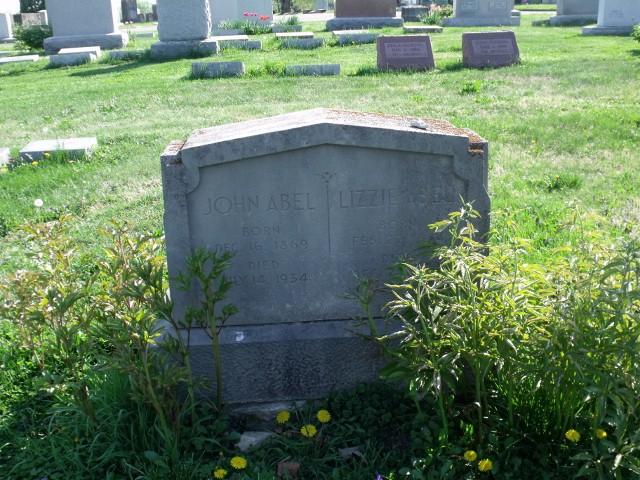 Elizabeth Frances Lizzie <i>Colvin</i> Abel