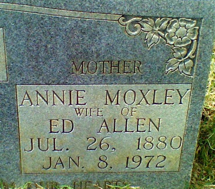 Annie Lou <i>Moxley</i> Allen