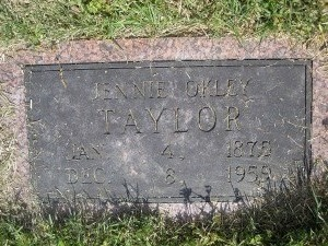 Mary Jane Jennie <i>Oakley</i> Taylor