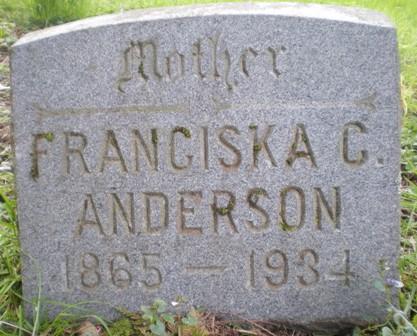 Franciska Charlotte <i>Amundson</i> Anderson