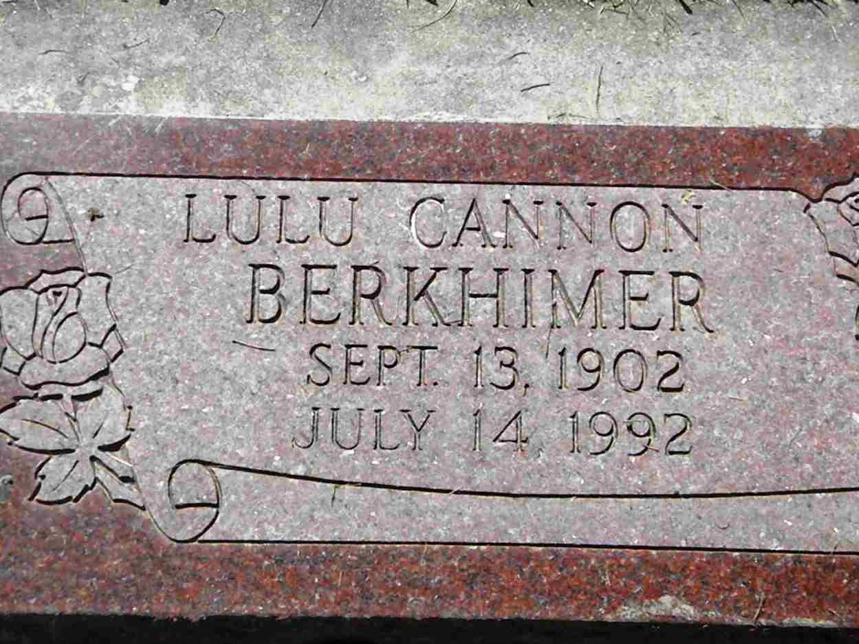 Lulu <i>Cannon</i> Berkhimer