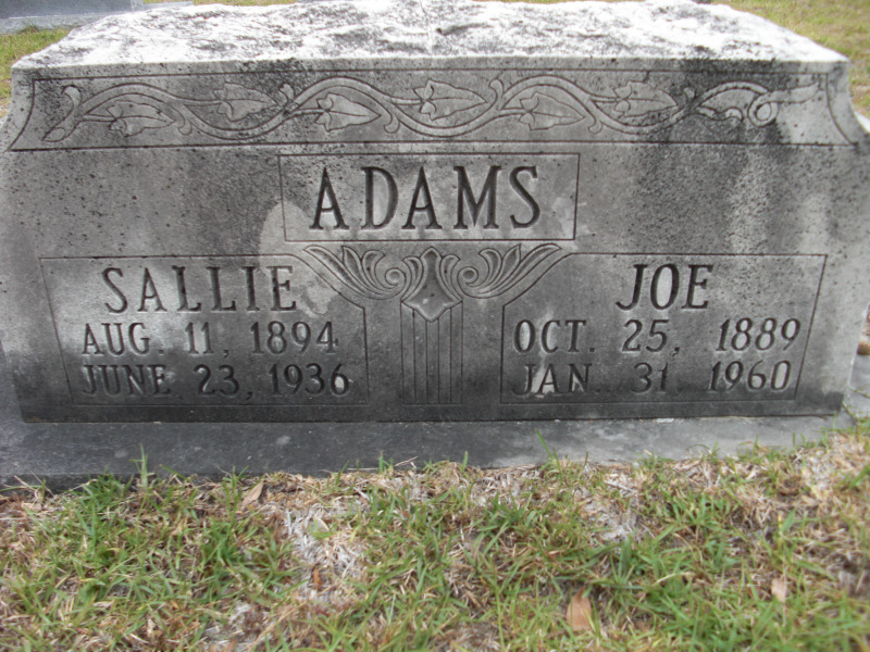 Sallie Carroll <i>Adams</i> Adams