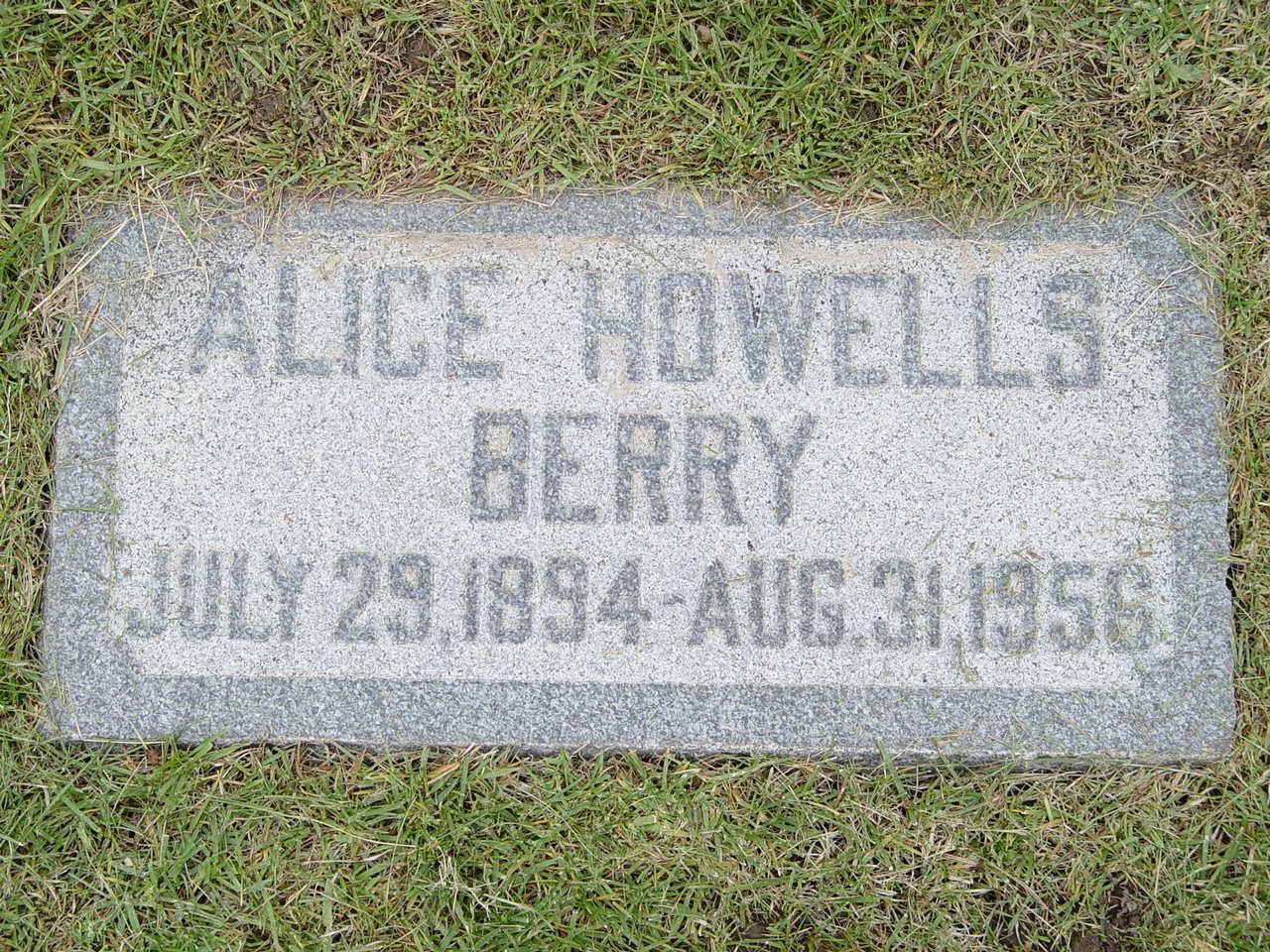 Alice Emily <i>Howells</i> Berry