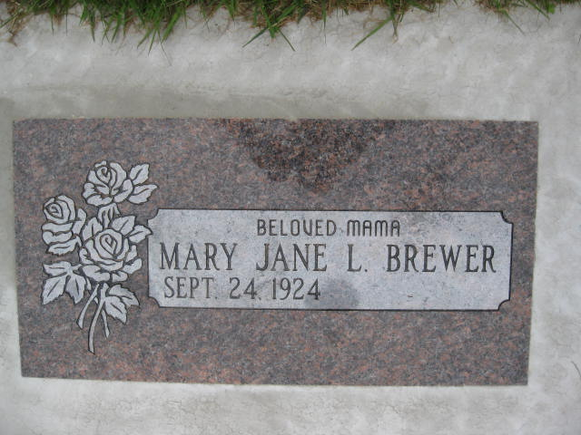 Mary Jane Louise <i>Backman</i> Brewer