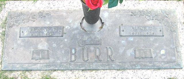 Alice Josephine <i>Taxford</i> Burr