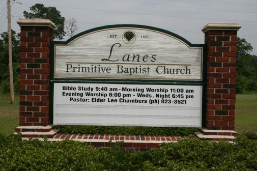 Lanes Primitive Baptist Church Cemetery