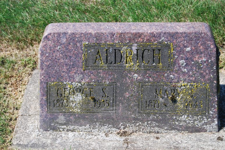 Mary J <i>Petersen</i> Aldrich
