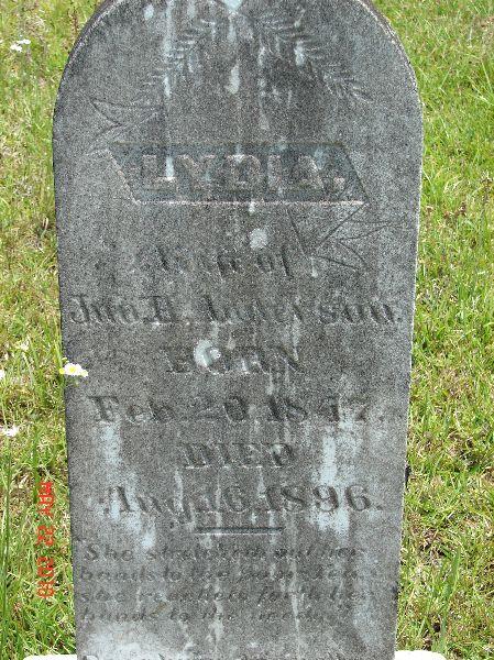 Lydia Ann <i>Griner</i> Anderson