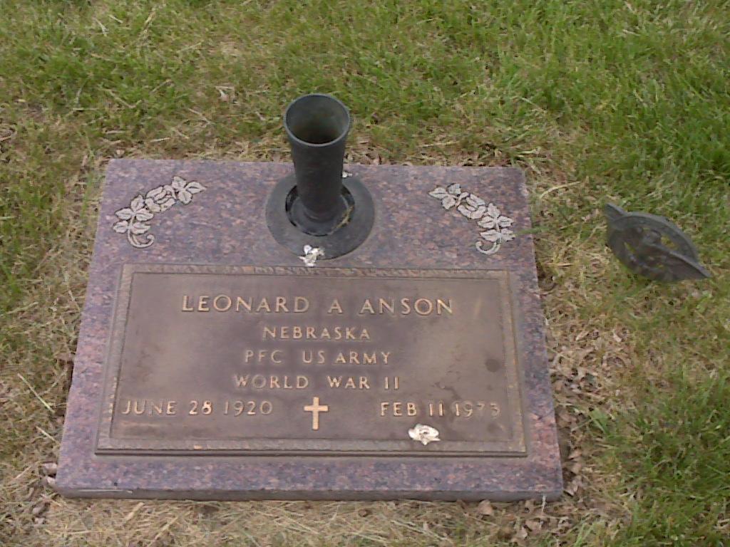 PFC Leonard A Anson