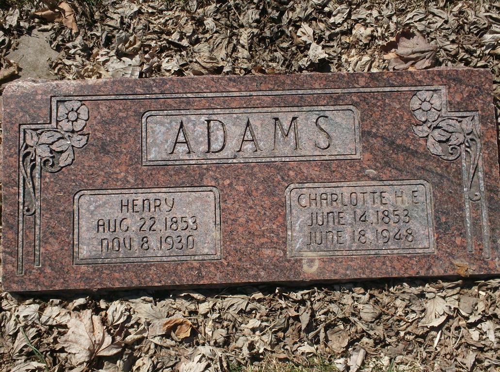 Charlotte <i>Evans</i> Adams
