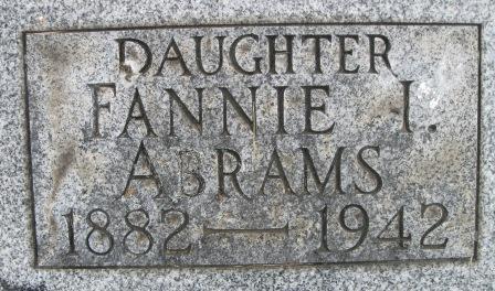 Fannie I Abrams