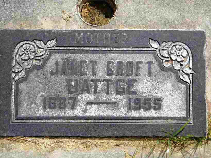 Euphemia Janette Janet <i>Underwood</i> Croft Dattge