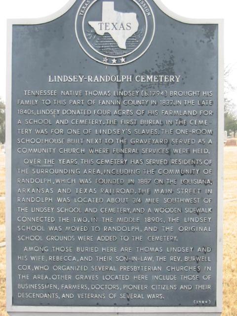 Randolph-Lindsey Cemetery