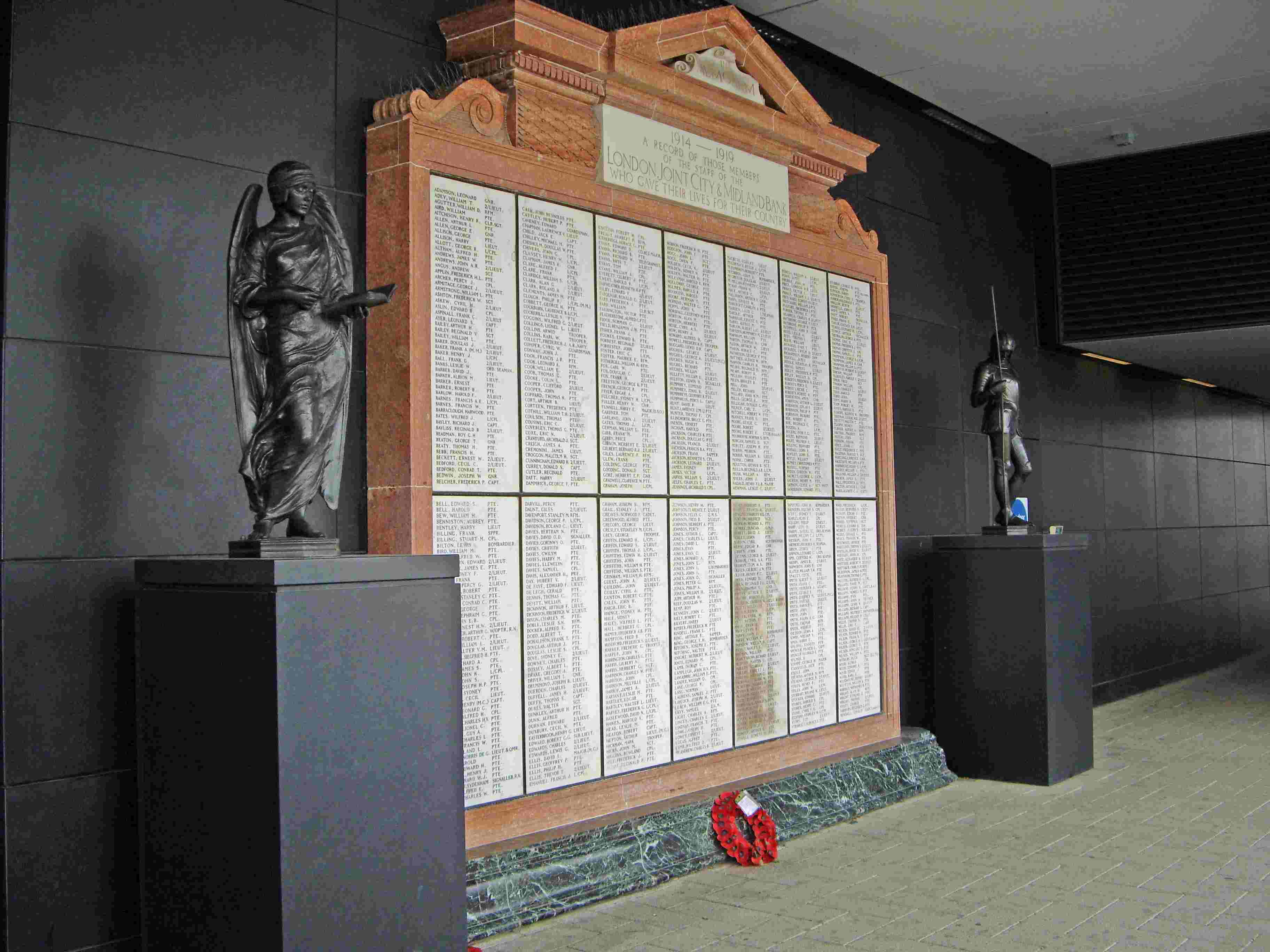 London Joint City and Midland Bank - WWI Memorial
