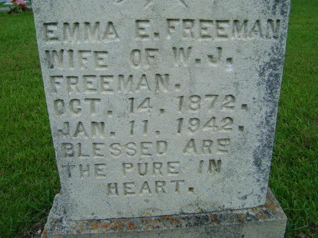 Emma Elizabeth <i>Harrigill</i> Freeman