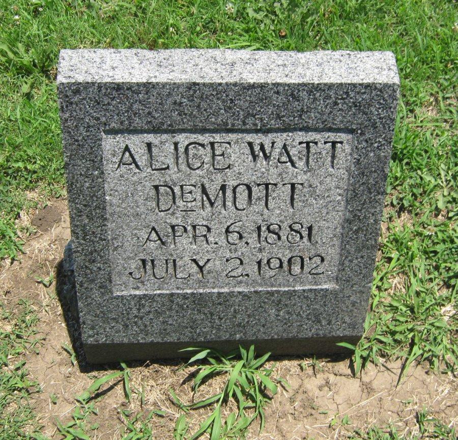 Alice Elois <i>Watt</i> DeMott