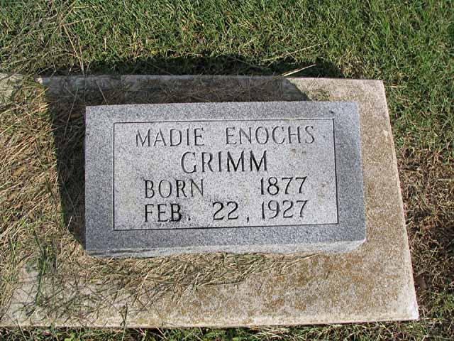 Mary Eliza Madie <i>Enochs</i> Grimm