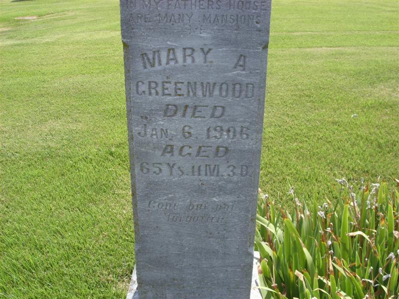 Mary Ann <i>Randolph</i> Greenwood