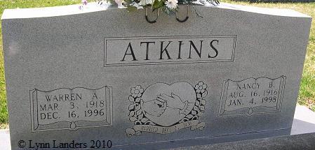 Nancy Adelaide Nan <i>Bunker</i> Atkins